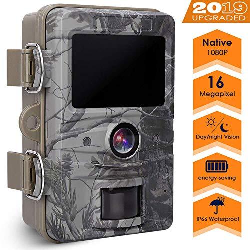 AGM Caméra de Chasse 16MP 1080P HD Étanche IP66, Appareil Photo de Surveillance avec Vision Nocturne 20m 2.4'' LCD Camera Detecteur de Mouvement Animaux pour la Surveillance de la Faune et la Sécurité