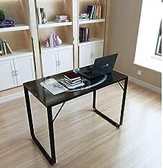 Schreibtisch Büro PC Tisch Computertisch Glastisch Glasplatte ORION hjh OFFICE