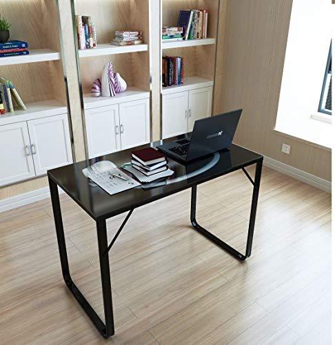 Generic Glas-Tisch für Arbeitszimmer, Arbeitszimmer, Glastisch, kStation für Zuhause, Büro, Schreibtisch, Puter aus Glas (Glas-schreibtisch Büro)