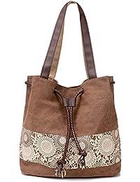 Tasche A4 Alltagstasche Shopper Ethno Umhänge Handtasche Vintage Canvas Schulter Stofftasche Damen