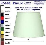 Paralume tronco cono moderno in tessuto e PVC - produzione propria - made in Italy (cm 45)