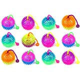 10 Pcs Colors Elastic Light Up Dog Spike Ball With LED Flash Light Up For Fun/Games