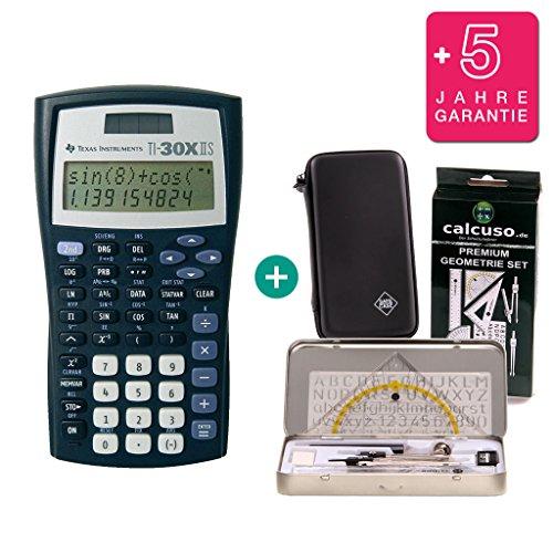 Texas Instruments 30 X II S + Schutztasche + Geometrie-Set + Erweiterte Garantie