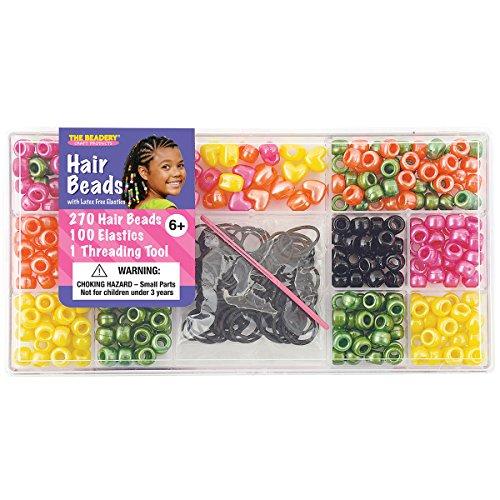 Beadery Kunststoff groß Haar Bead Kit Bright Pearl (Making Bead Kit)