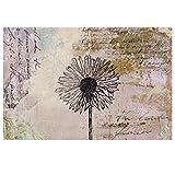 Mustertapete Blumen - Shabby Pusteblume - Blumen Vliestapete Breit, Größe HxB: 190cm x 288cm