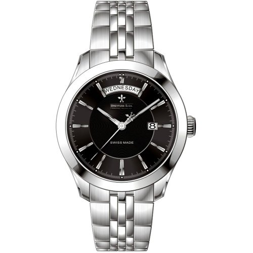 Dreyfuss and Co DGB00058-04 Mens Grey Black Watch