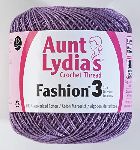 Aunt Lydia's Fashion Crochet Thread Size 3-Plum -