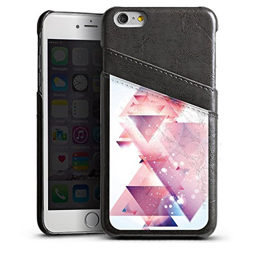 Apple iPhone 4 Housse Étui Silicone Coque Protection Triangles Triangles Triangles Étui en cuir gris