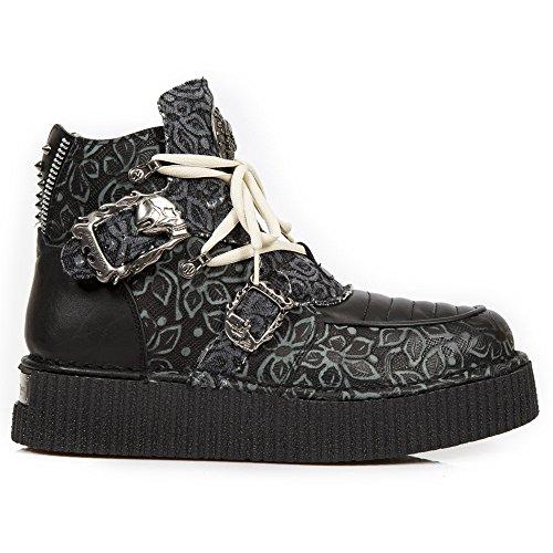 New Rock Neo Creeper Schwarz Schuhe M.CRP051-S2 BLACK, BLACK