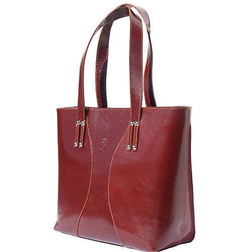 Handtasche und Schultertasche mit Doppelgriff 205 Braun