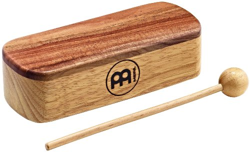 Meinl PMWB1-M Professional Medium Wood Block with Wooden Beater - Natural