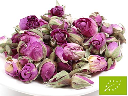 pikantum Bio Rosenknospen | 1kg | Damaszena-Rosen | Rosenblüten | intensiver Rosenduft | wunderschöne rosa bis voilette Farbe - Getrocknete Rosenblätter Rosa