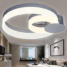 XHOPOS HOME Deckenleuchte LED Acryl Kreis Ultra Dnne Decke Hell Modern Minimalistisch Wohnzimmer Schlafzimmer Kreativitt