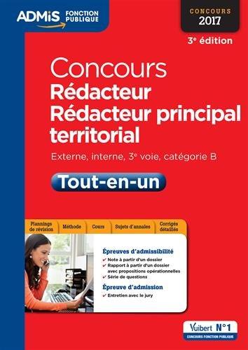 Concours Rédacteur et Rédacteur principal territorial - Catégorie B - Tout-en-un - Concours 2017