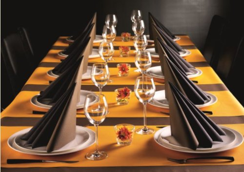 50 Servietten, stoffähnlich, Airlaid 1/4-Falz 40 cm x 40 cm braun dunkelbraun für Hochzeit besondere Anlässe ... (Urlaub Anlass Besonderen)