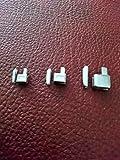 Unbekannt Reißverschlüsse Reparatur Set Gr. 3, 5, 7 Kastenteil und Steckteil Farbe Silber