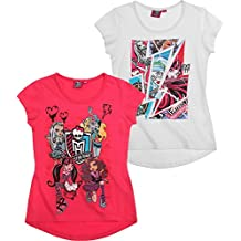 Monster High Fille Lot de 2 T-Shirts - blanc