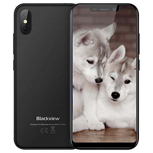 """Blackview A30 Smartphone Offerta del Giorno 16GB, Tutto Schermo (19: 9) 5.5"""" Android 8.1 Oreo,5.0MP Anteriore + 8.0MP Telecamere Posteriori, 2500mAh Batteria, 3G Offerte Cellulari Nero"""