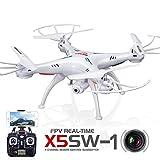 LeaningTech x Syma X5SW FPV Explorers2 2.4Ghz 4CH 6-Achsen Gyro RC Kopflos-Modus Quadcopter Drohne UFO mit HD Wifi Kamera weiß