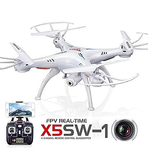 LeaningTech x Syma X5SW FPV Explorers2 2.4Ghz 4CH 6-Achsen Gyro RC Kopflos-Modus Quadcopter Drohne UFO mit HD Wifi Kamera (Quadrocopter Android)