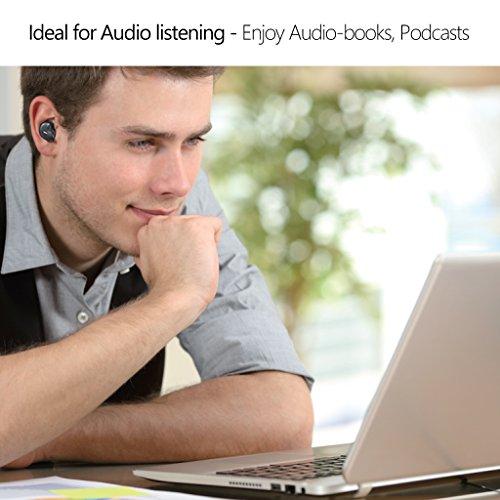 [2018 Version] Avantree Mini In Ear Bluetooth Kopfhörer für Motorradhelm GPS Navi, Podcasts, Audiobooks, Kabellos Unsichtbarer Kleiner Ohrhörer Ohrstöpsel, Wireless Kleinste Motorrad Headset (Nur rechtes Ohr) - 4