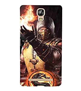 For Gionee Marathon M5 Plus Cartoon, Blue, Cartoon and Animation, Fighter, Printed Designer Back Case Cover By CHAPLOOS