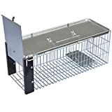 Easipet Humane Rat Trap, Heavy Duty Metal Live Vermin or Rodent Catcher, White
