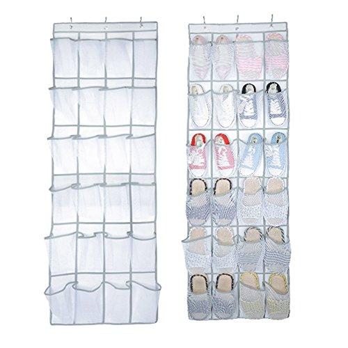 Puerta zapatos organizador, 24bolsillo nailon tejido de malla sobre la puerta para colgar zapatero soporte de almacenamiento para zapatos limpieza suministros juguetes y muñecas Barbie y accessoriesr