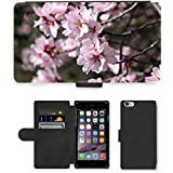 "Just Phone Cases PU LEATHER case coque housse smartphone Flip bag Cover protection // M00128228 Almendro Flor del almendro // Apple iPhone 6 PLUS 5.5"""