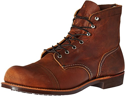 Red Wing Mens Iron Ranger 8085 Copper Leather Boots 43.5 EU
