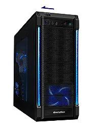 CiT Galaxy Evo Gaming PC-Gehäuse, USB 3.0, DREI Lüfter mit umschaltbaren roten/blauen LEDs und Bub