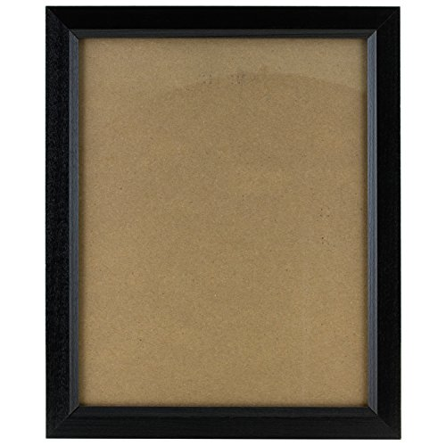 craig-frames-7171610bk-85-by-11-inch-photo-frame-wood-grain-finish-825-inch-wide-solid-black-by-crai