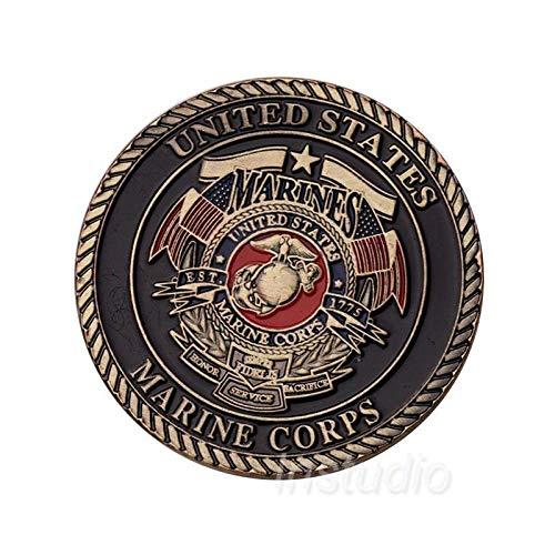 nouler Amerikanische Gedenkmünze Marine Corps Teufel Hund Goldmünze Militär Abzeichen Simulation,Gedenkmünze,Einheitsgröße