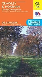OS Explorer OL34 Crawley & Horsham (OS Explorer Map)