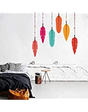 Rawpockets Feather' Wall Sticker (PVC Vinyl, 105 cm x 105cm)