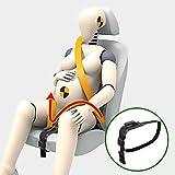 ZUWIT Ceinture Antichoc, Ceinture de sécurité pour des sièges maternité, confort et sécurité pour les femmes enceintes, Protection pour le bébé à venir, Un accessoire indispensable pour les futures mamans (Noir)