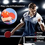 Easy-Room Table Tennis Racket Bat Set, Pingpong Paddle with 2 Bats and 3 Balls(Logo of Sportout)