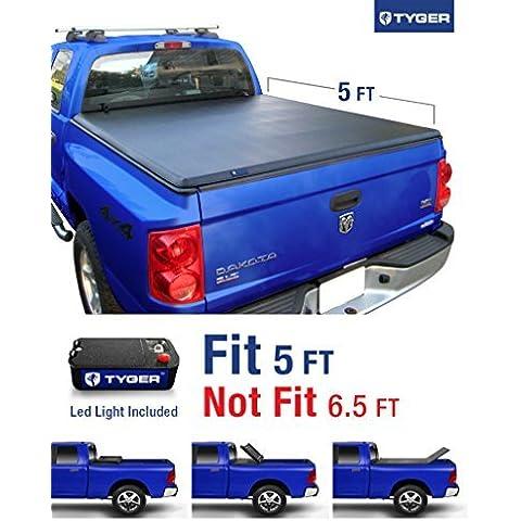 Tyger Auto TG-BC3D1013 Tri-Fold Pickup Tonneau Cover (Fits 05-11 Dodge Dakota Quad Cab (w/o Utility Track); 06-08 Mitsubishi Raider 5 feet (60 inch)) by Tyger Auto