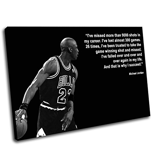 Canvas Culture–Michael Jordan Gerahmter Kunstdruck auf Leinwand Bild 1, schwarz, 75 x 50 cm