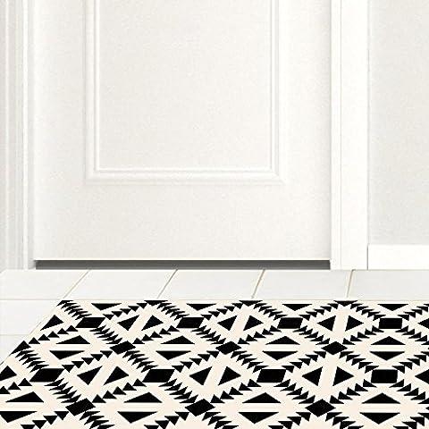 3D floor sticker, home decoration, rice black, imitation tile, kitchen