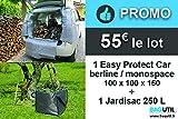 SO BAG Bâche de Protection Coffre et habitacle de Voiture berline monospace + Sac de Jardin 250 L - BAGUTIL France