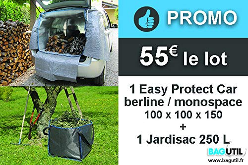 SO BAG Bâche de Protection Coffre et habitacle de Voiture...