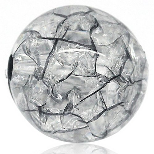 z Crackle Zerbrochene Perlen Kugeln Beads Schmuckperlen 12mm ()