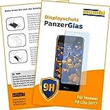 mumbi Panzerglasfolie für Huawei P8 lite 2017 Glasfolie Hartglas 9H (bewusst kleiner als das Display, da dieses gewölbt ist)