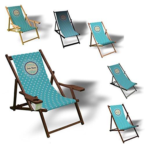 st die Beste - Liegestuhl bedruckt Balkon Garten Sonnenliege Relax Holz Terrasse | Variante:ohne Armlehne, Natur (Halloween-herbst-hintergründe)