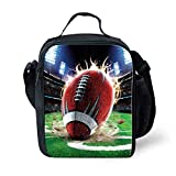 Best Thermos Lunch Boxes For Boys - Nopersonality Stylish Rugby Kids Lunch Boxes For Boys Review