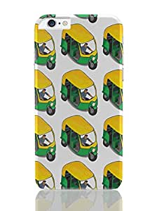PosterGuy iPhone 6 Plus Case & Cover - Auto Walla Auto, India, Crowd, Traffic, Pattern, Isometric, Pop Culture, Cult, Green, Yellow, Rickshaw, Bazaar