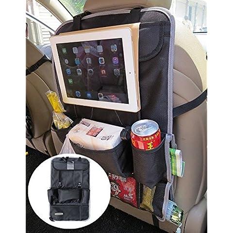 eleidgs portaoggetti per sedile posteriore con scomparto per iPad, per