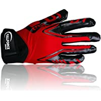Full Force Titanium Lite American Football Receiver gloves, red, size S–XL