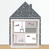 Limmaland Wandtattoo Puppenhaus passend für Dein IKEA KALLAX Regal (Möbel) - Möbel Nicht inklusive